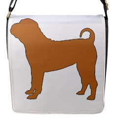 Chinese Shar Pei Silo Color Flap Messenger Bag (S)