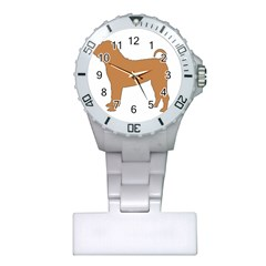 Chinese Shar Pei Silo Color Plastic Nurses Watch