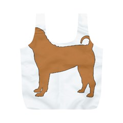 Chinese Shar Pei Silo Color Full Print Recycle Bags (M)