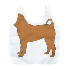 Chinese Shar Pei Silo Color Full Print Recycle Bags (L)
