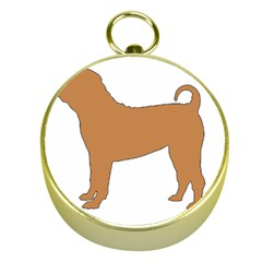 Chinese Shar Pei Silo Color Gold Compasses