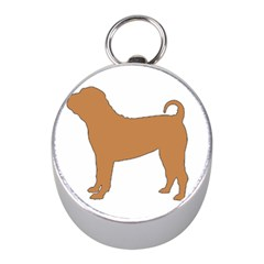 Chinese Shar Pei Silo Color Mini Silver Compasses