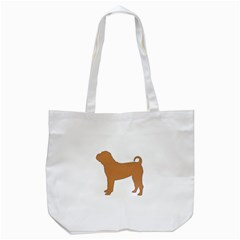 Chinese Shar Pei Silo Color Tote Bag (White)