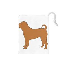 Chinese Shar Pei Silo Color Drawstring Pouches (Small)
