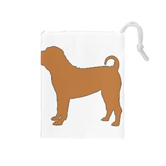 Chinese Shar Pei Silo Color Drawstring Pouches (Medium)