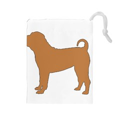 Chinese Shar Pei Silo Color Drawstring Pouches (Large)