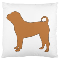 Chinese Shar Pei Silo Color Large Flano Cushion Case (One Side)