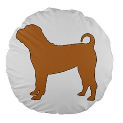 Chinese Shar Pei Silo Color Large 18  Premium Flano Round Cushions