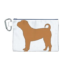Chinese Shar Pei Silo Color Canvas Cosmetic Bag (M)