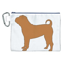 Chinese Shar Pei Silo Color Canvas Cosmetic Bag (XXL)