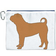 Chinese Shar Pei Silo Color Canvas Cosmetic Bag (XXXL)