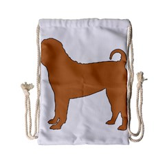 Chinese Shar Pei Silo Color Drawstring Bag (Small)