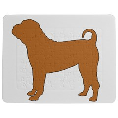 Chinese Shar Pei Silo Color Jigsaw Puzzle Photo Stand (Rectangular)