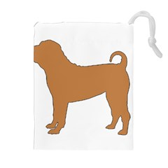 Chinese Shar Pei Silo Color Drawstring Pouches (Extra Large)