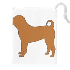 Chinese Shar Pei Silo Color Drawstring Pouches (XXL)