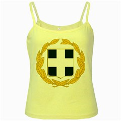 Greece National Emblem  Yellow Spaghetti Tank