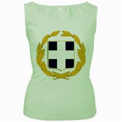 Greece National Emblem  Women s Green Tank Top