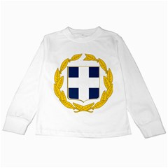 Greece National Emblem  Kids Long Sleeve T-Shirts