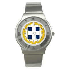 Greece National Emblem  Stainless Steel Watch
