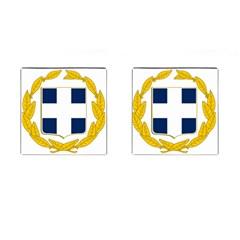 Greece National Emblem  Cufflinks (Square)