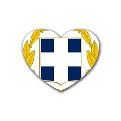 Greece National Emblem  Rubber Coaster (Heart)