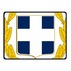 Greece National Emblem  Fleece Blanket (Small)