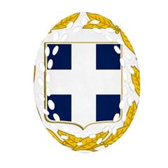Greece National Emblem  Oval Filigree Ornament (Two Sides)