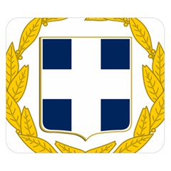 Greece National Emblem  Double Sided Flano Blanket (Small)