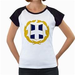 Greece National Emblem  Women s Cap Sleeve T