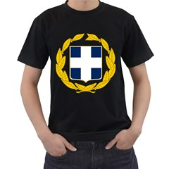 Greece National Emblem  Men s T-Shirt (Black)