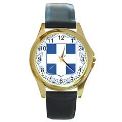 Greece National Emblem  Round Gold Metal Watch