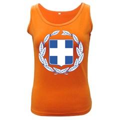 Greece National Emblem  Women s Dark Tank Top