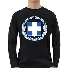 Greece National Emblem  Long Sleeve Dark T-Shirts