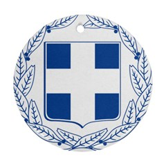 Greece National Emblem  Round Ornament (Two Sides)