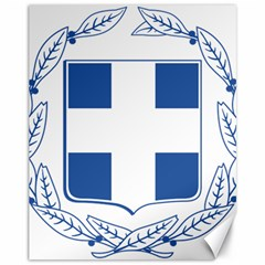 Greece National Emblem  Canvas 11  x 14