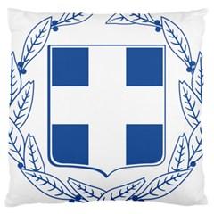 Greece National Emblem  Large Cushion Case (Two Sides)