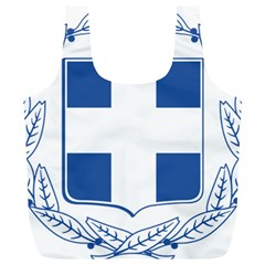 Greece National Emblem  Full Print Recycle Bags (L)