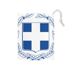 Greece National Emblem  Drawstring Pouches (Medium)