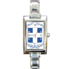 Greece National Emblem  Rectangle Italian Charm Watch