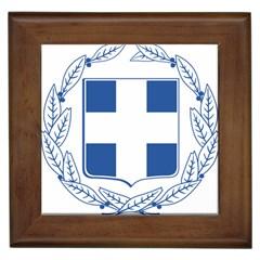 Greece National Emblem  Framed Tiles