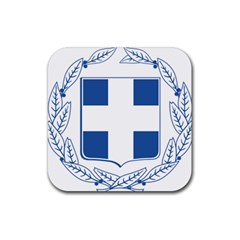 Greece National Emblem  Rubber Coaster (Square)