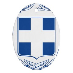Greece National Emblem  Oval Ornament (Two Sides)