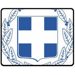 Greece National Emblem  Fleece Blanket (Medium)