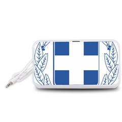 Greece National Emblem  Portable Speaker (White)