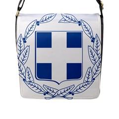 Greece National Emblem  Flap Messenger Bag (L)