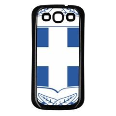 Greece National Emblem  Samsung Galaxy S3 Back Case (Black)
