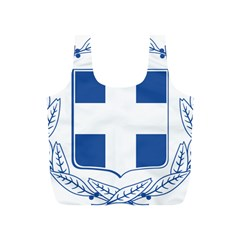 Greece National Emblem  Full Print Recycle Bags (S)