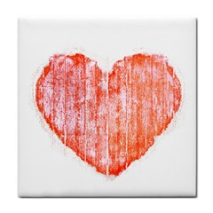 Pop Art Style Grunge Graphic Heart Tile Coasters