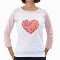 Pop Art Style Grunge Graphic Heart Girly Raglans