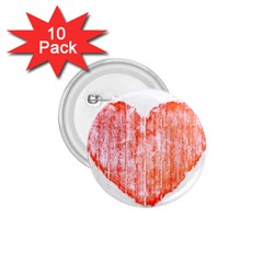 Pop Art Style Grunge Graphic Heart 1.75  Buttons (10 pack)